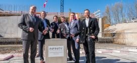 Grundsteinlegung für den Erweiterungsbau des Infinity Munich