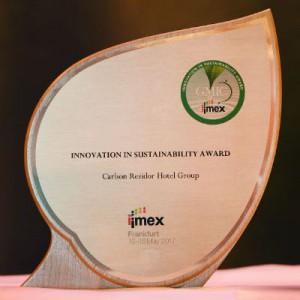 Der GMIC Sustainablility Award wurde im Rahmen der IMEX in Frankfurt verliehen. Foto: carsten@costard.de