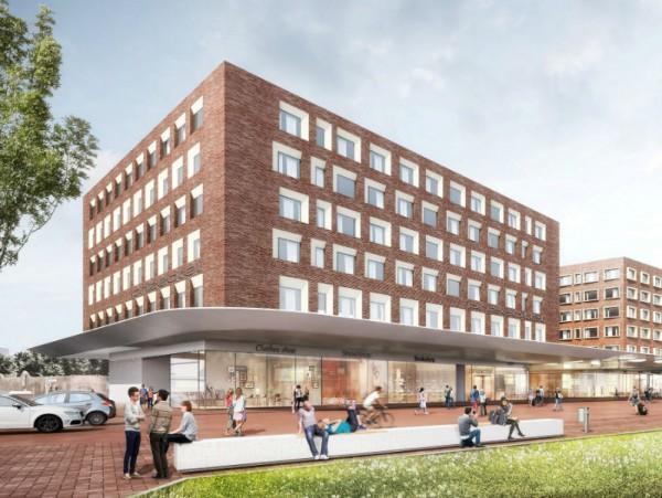 2020 wird das neue Prizotel am Bahnhof in Münter eröffnen. Abb.: kadawittfeldarchitektur