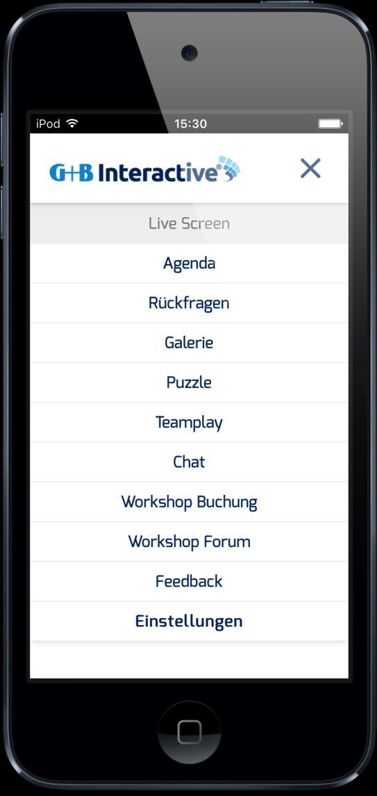 Event App_Menue