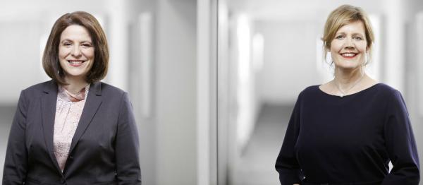Starke Frauen-Führungspower im Corporate- und MICE-Sales bei Best Western: Sabatina Schmitt (links) führt das achtköpfige Key Account Management Team und berichtet an Bereichsleiterin Marina Christensen (rechts). Foto: Best Western